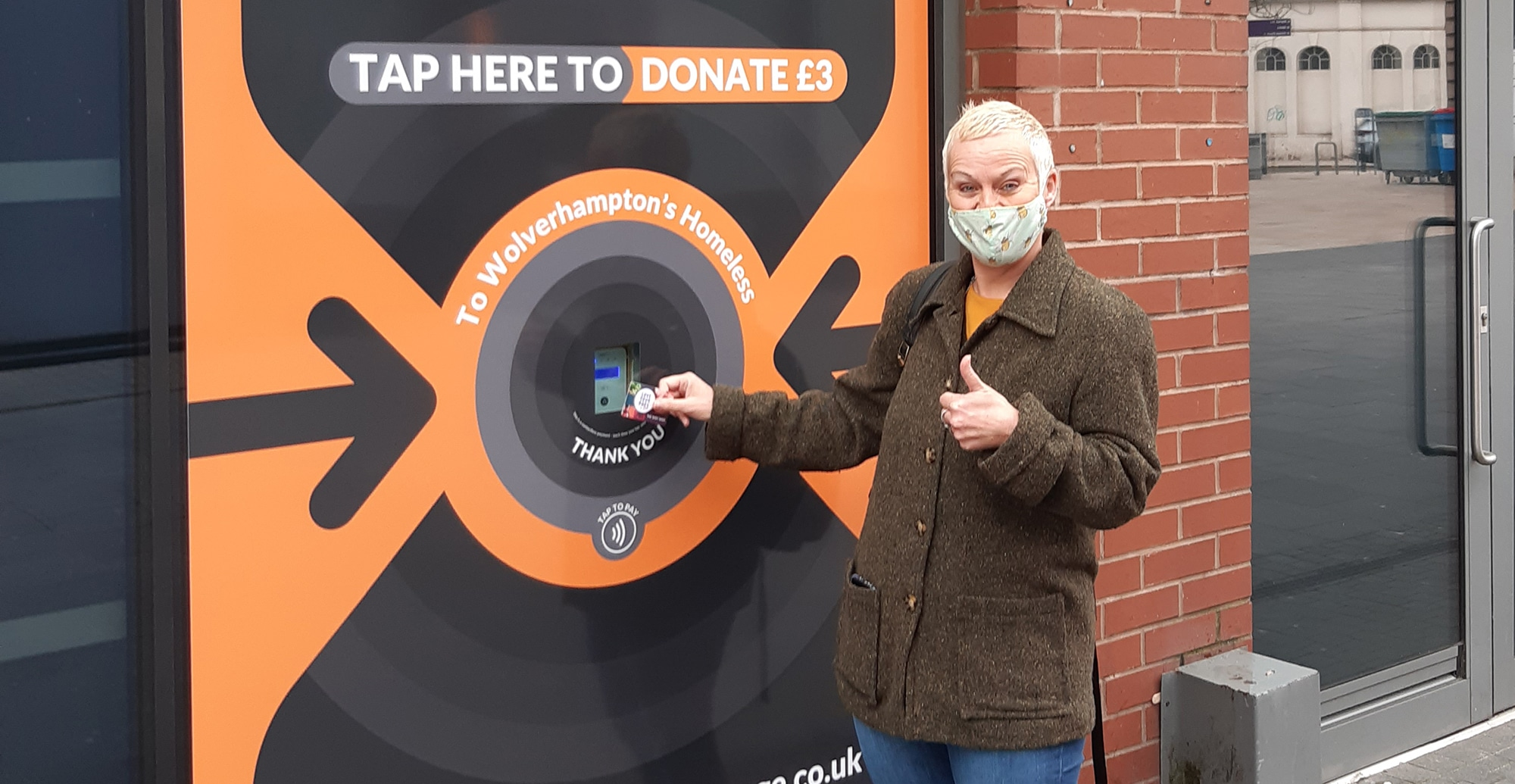 Tap to Donate Point Launched to Support Wolverhampton Homeless and Vulnerable